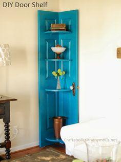 Πώς κάνουμε μία πόρτα γωνιακή ραφιέρα!