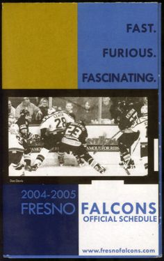 2004 FRESNO FALCONS CARL JR'S BUD LIGHT BEER HOCKEY POCKET SCHEDULE FREE SHIP #Schedule