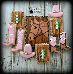 Girly western cookies