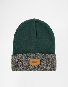 $8, Dark Green Beanie: Asos Brand Contrast Turn Up Beanie. Sold by Asos. Click for more info: http://lookastic.com/men/shop_items/180908/redirect