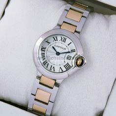Fake #Cartier #Ballon Bleu #Ladies #Watch Two-Tone 18kt Pink Gold Small Sell