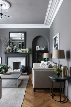 Living Room Color with Grey Furniture. 20 Living Room Color with Grey Furniture. Choosing A Color theme for the Grey Living Room is One Of Grey Walls Living Room, Design Living Room, Living Room Decor, Living Rooms, Gray Walls, Room Color Schemes, Room Colors, Paint Colours, Wall Colors