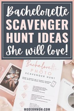 No bachelorette party is complete without teaming up to do a totally fun scavenger hunt with your girls. Check out our favorite ideas and examples here! #bachelorettepartyscavengerhunt #bachelorettescavengerhunt #ModernMOH Bachelorette Party Scavenger Hunt, Bachelorette Party Activities, Bachelorette Party Planning, Scavenger Hunt Games, Photo Scavenger Hunt, Funny Drinking Games, Pick Up Lines Cheesy, Maid Of Honor Speech, Prom Poses