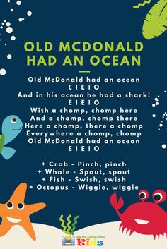 A fun action song for the summer season, or an under-the-sea/ocean unit! #CMCLKids #Storytime #EarlyLiteracy #Library #Programming #Rhymes #ActionRhyme #LibraryProgram #KidsEvents #KidsSongs #ChildrensMusic #LibraryLife