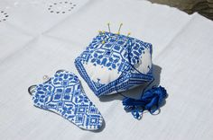 Embroidered Pincushion and Scissors Case set by embrant on Etsy, $25.00