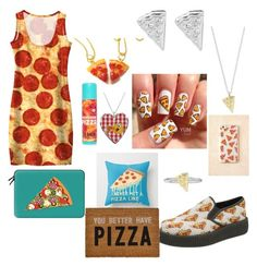 """Pizza"" by lovecats123 ❤ liked on Polyvore featuring beauty, Rock 'N Rose, T.U.K. and Casetify"