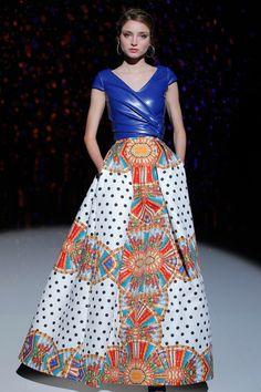 Vestido de fiesta Patricia Avendaño colección 2017 en Barcelona Bridal Fashion Week 2016.  #patriciaavendaño #bbfw16 #moda #desfile #tendencia #coleccion2017 #fashionshow #bridalfashion #glamour  #dress