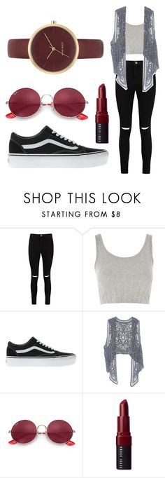 """Switching S"" by sabiheja on Polyvore featuring Boohoo, Topshop, Vans, Ray-Ban, Bobbi Brown Cosmetics and Nine West"