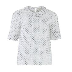 People Tree - Cotton Blouse with Amelie points and tucks -Polka Dot