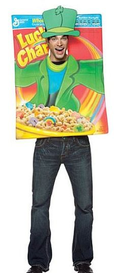 """Lucky Charms cereal box costume"" I need this is in my life"