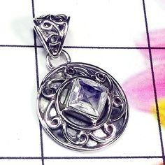 20% Off Sales Crystal Pendant, Round Pendant, Gemstone Pendant, Clear Quartz Pendant, Handmade Pendant, Fine Silver Pendant, Women Pendant