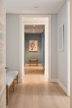 - Condo Apartment Sale at The Abingdon in West Village, Manhattan Hallway Flooring, Wood Laminate Flooring, Home Room Design, House Design, Living Room Colors, Hallway Decorating, Home Decor Bedroom, My Dream Home, New Homes