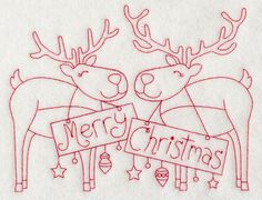 Machine Embroidery Designs at Embroidery Library! - New This Week Christmas Embroidery Patterns, Folk Embroidery, Hand Embroidery Patterns, Cross Stitch Embroidery, Machine Embroidery Designs, Red Work Embroidery, Vintage Embroidery, Broderie Primitive, Merry Christmas