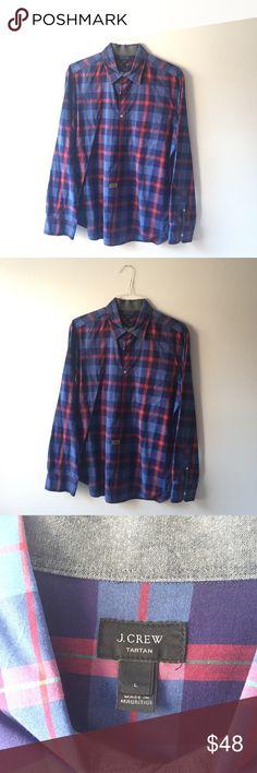 J.Crew Mens Tartan Button Down Collared Shirt 👔 100% cotton J. Crew Shirts Casual Button Down Shirts