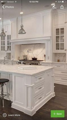 26 Wonderful White Kitchen Design Ideas And Decor. If you are looking for White Kitchen Design Ideas And Decor, You come to the right place. Here are the White Kitchen Design Ideas And Decor. Home Decor Kitchen, Diy Kitchen, Kitchen Interior, Rustic Kitchen, Kitchen Hacks, 10x10 Kitchen, Coastal Interior, Kitchen Furniture, Wood Furniture