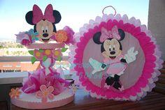 decoraciones para quinceaneras | Fiestas y Sonrisas: Piñata y Piruletero de Minnie Mouse