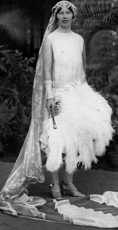 """A bride of the British Raj: Iris Butler on her wedding day - she was one of the """"fishing fleet"""" who went to India to find husbands."""