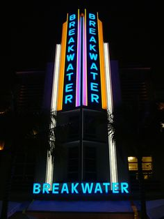 Art Deco Neon, South Beach Miami, Florida, U.S.A.