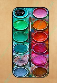 Water color paint set Photo hard case and by caseforallrichpeople, $11.99