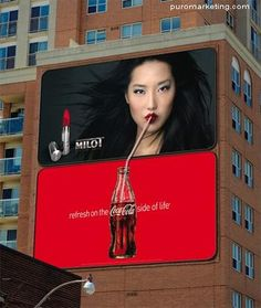 .incredible guerriilla billboard by Coca - Cola