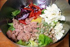 Salade met witte bonen en tonijn - Keuken♥Liefde
