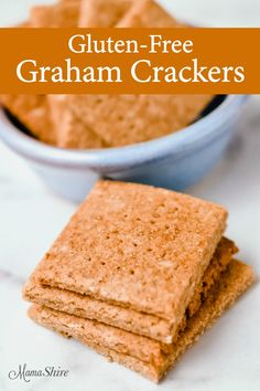 This homemade Gluten-Free Graham Cracker recipe is easy to make and so tasty. Th… This homemade Gluten-Free Graham Cracker recipe is easy to make and so tasty. These graham crackers are perfect for snacks and making yummy s'mores. Cookies Sans Gluten, Dessert Sans Gluten, Gluten Free Sweets, Gluten Free Cooking, Dairy Free Recipes, Easy Recipes, Beef Recipes, Chicken Recipes, Dinner Recipes