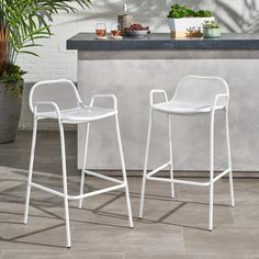 White Dining Chairs, Patio Dining Chairs, Bar Chairs, Grey Bar Stools, Outdoor Bar Stools, Outdoor Bars, Rattan Stool, Patio Bar Set
