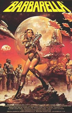Barbarella is a 1968 French-Italian science fiction film based on Jean-Claude Forest's French Barbarella comics. The film was directed by Roger Vadim and stars Jane Fonda, who was Vadim̵… Science Fiction, Fiction Movies, Sci Fi Movies, Old Movies, Vintage Movies, Vintage Posters, Space Movies, Movies 2019, Watch Movies