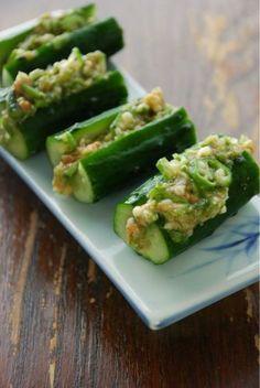 冷やし胡瓜のおくら味噌:vege dining 野菜のごはんPowered by Ameba