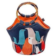 Love this colorful 'Flock of Birds' Neoprene Lunch Bag Purse - great girlfriend gift!