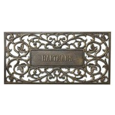 Personalized Filigree Rectangle Entry Mat By Front Gate. Entry MatsMetal  DoorsDoor MatsOutdoor ...