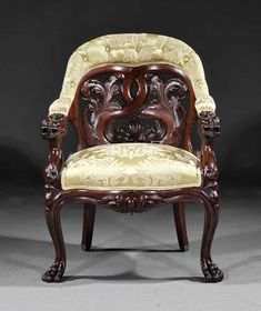 Old Wonderful Rococo Revival 1840-60 John Henry Belter Quality Carved Wood Frame Elegant Appearance Decorative Arts