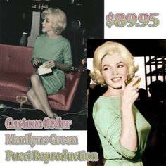 BlueBerry Hill Fashions: Marilyn Monroe Green Pucci Reproduction Custom Dress | Taking orders now