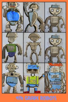 This would be a great art activity for older students and could be used to decorate a robot themed classroom  :) Jodi from the Clutter-Free Classroom www.CFClassroom.com