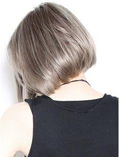 Blonde Asian, Ash Blonde Hair, Asian Hair, Grey Hair, Short Hair Cuts, Short Hair Styles, Pixie Cut, Hair Goals, Cool Hairstyles