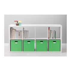TJENA Pudełko z pokrywką - zielony - IKEA