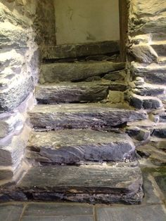 Y Lasynys Fawr, 18th century house, original building circa 1600. Steps believed to be original to building. Harlech Cymru UK LL46 2UT 14/7/16