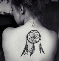 dreamcatcher tattoo. Mandala in webbing