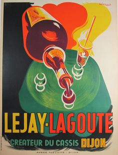 Lejay Lagoute original advertising lithography vintage poster from France.