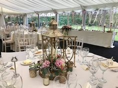 Rustic charm in our lake-side marquee.
