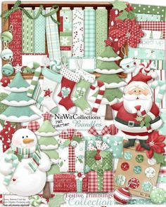 #digitalscrapbooking cute Christmas kit #cardmaking cute Christmas kit We know you have lots of memories for Christmas' past and present! FQB - Festive Trimmings Collection