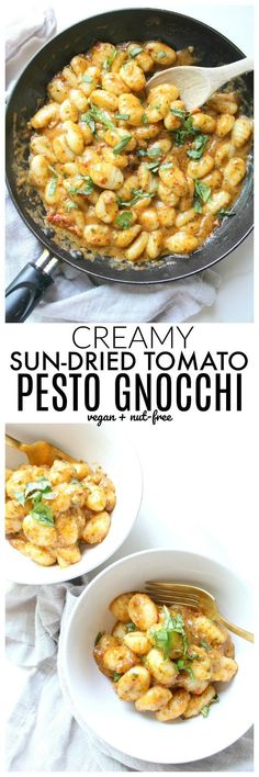 Creamy sun-dried tomato pesto gnocchi dinner recipe