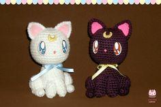 Amigurumi - Luna and Artemis by PurringCakes.deviantart.com on @deviantART