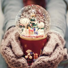 Every Christmas I buy one snow globe. Each one is different. I love these beautiful little snow globes :)