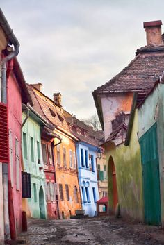Romania Travel Inspiration - An old medieval street in Sighişoara :copyright: Gabriela Insuratelu, Shutterstock Cool Places To Visit, Places To Travel, Transylvania Romania, Visit Romania, Romania Travel, Voyage Europe, Romantic Vacations, Europe Destinations, Viajes