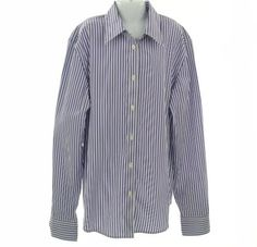 Lauren Ralph Lauren Striped Long Sleeve Shirt Purple Multi S Lauren by Ralph Lauren. $70.77