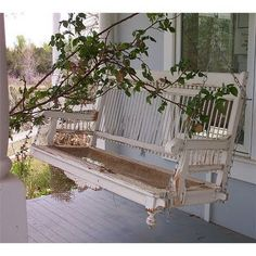 wrap around porch with a swing:)
