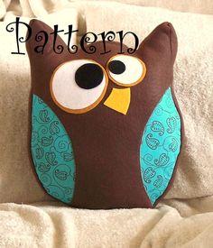 Owl Pillow Hooter the Owl Plush PDF Tutorial and Printable Pattern. $6.99, via Etsy.