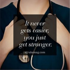 Nursing. It never gets easier, you just get stronger.