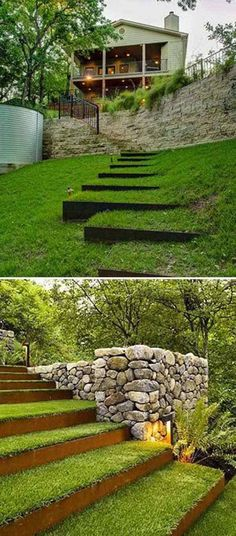 45 Fascinating Ideas to Make Garden Steps on a Slope